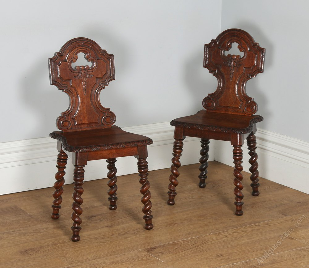 English Victorian Pair Of Gothic Style Chairs ...