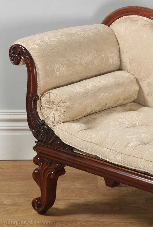 English william iv carved mahogany chaise longue for Antique chaise longue for sale