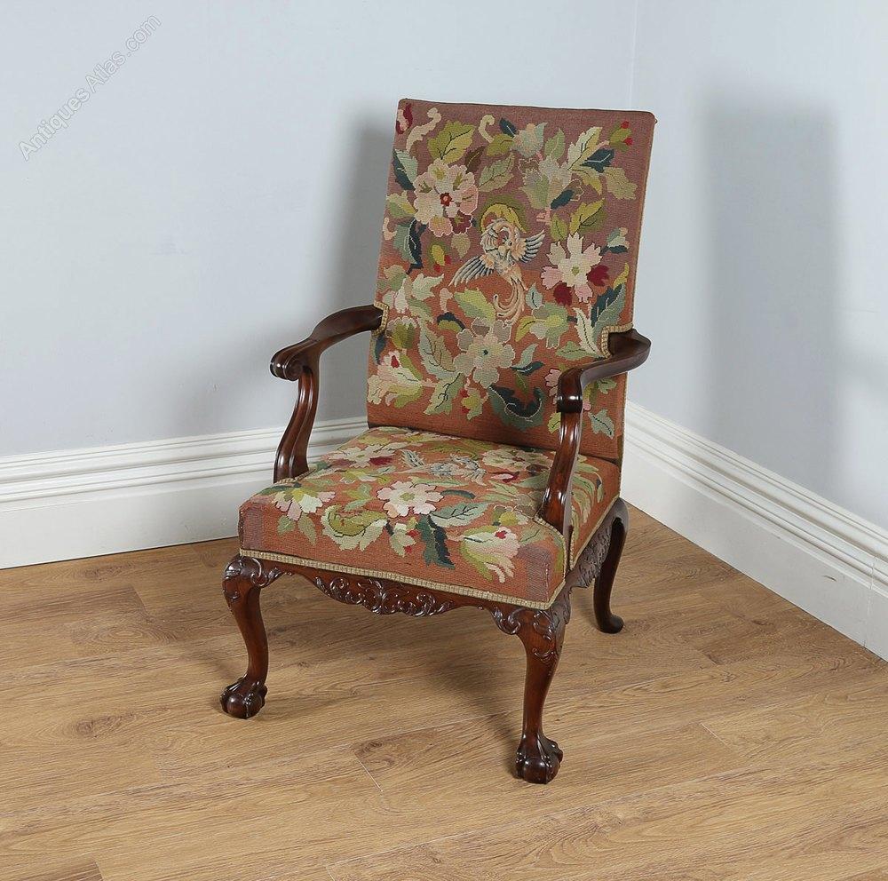 Georgian Chippendale Style Gainsborough Armchair ...