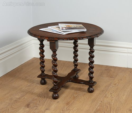 Jacobean Style Oak Coffee Table Circa 1920