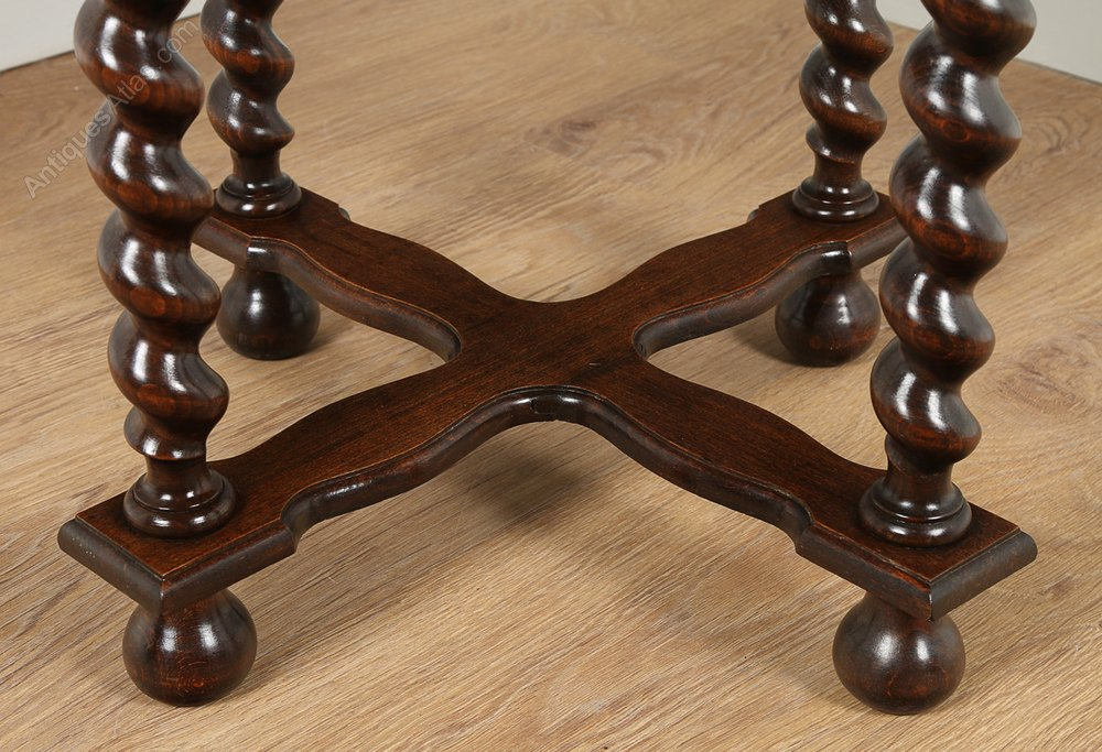 Jacobean Style Oak Coffee Table Circa 1920 Antique Tables Alt5