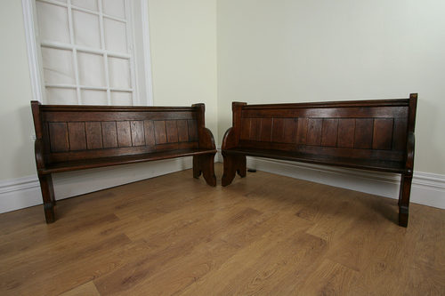 Astonishing Pair Oak Victorian Welsh Church Pews C 1850 Antiques Atlas Caraccident5 Cool Chair Designs And Ideas Caraccident5Info