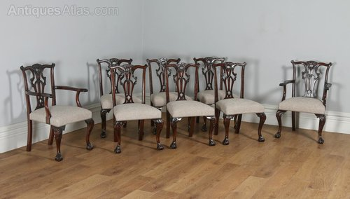 Home, Furniture & Diy Antique Furniture Set 6 Edwardian Antique Solid Carved Mahogany Upholstered Dining Kitchen Chairs Quality First