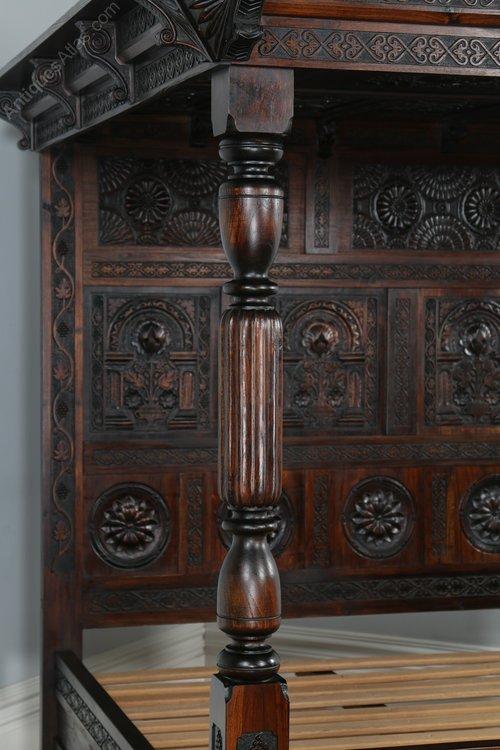 Antiques Atlas Tudor Style Oak Carved King Size Four