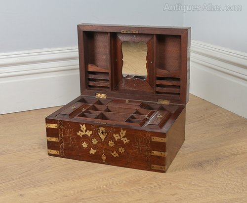 Antiques Atlas Victorian Colonial Military Teak Writing Box