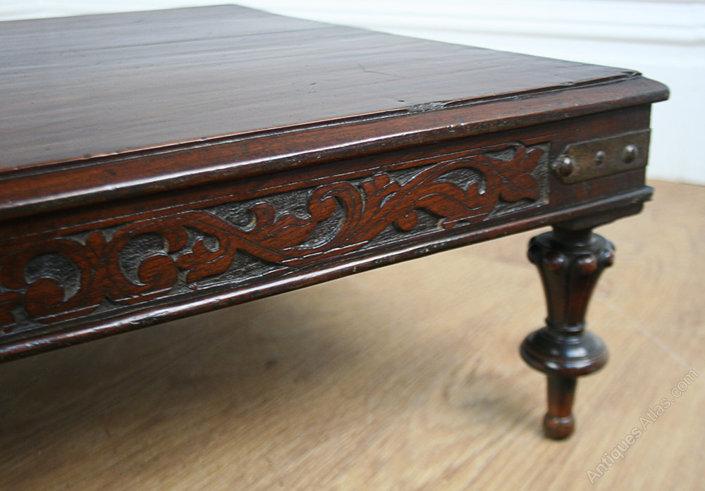 Victorian Colonial Teak Opium Coffee Table C 1840 Antique Occasional Tables Side