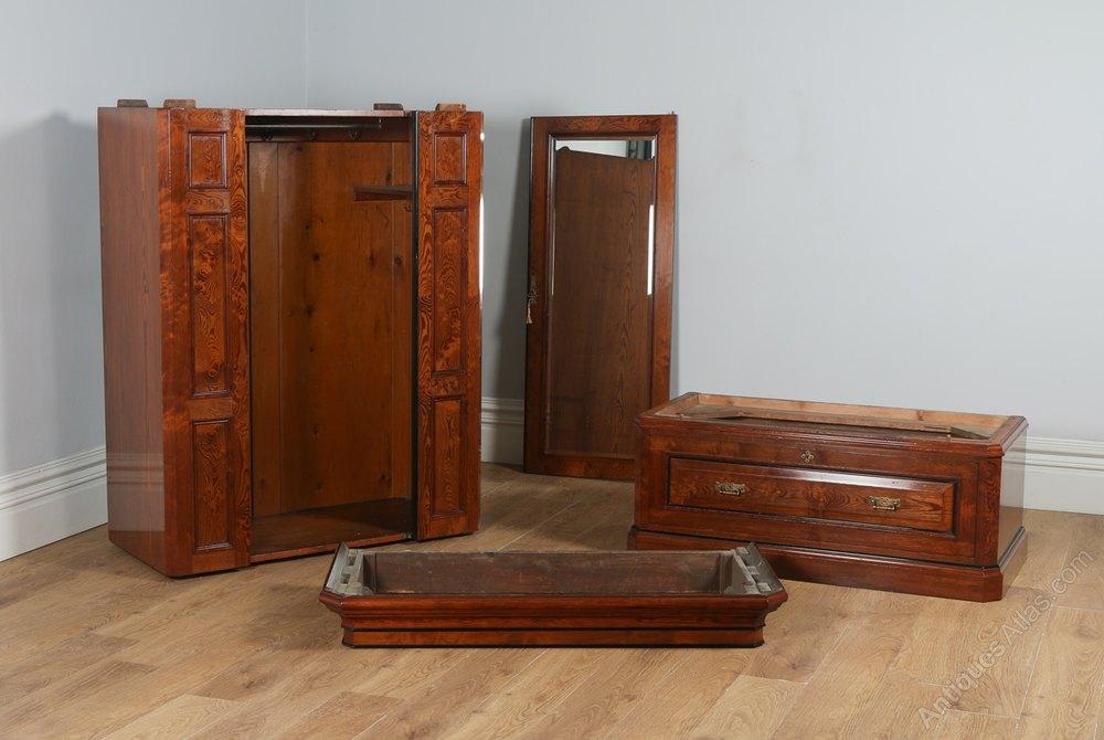 victorian gothic pitch pine ebony bedroom suite antique bedroom suites bedroom suite pitch alt5 alt6