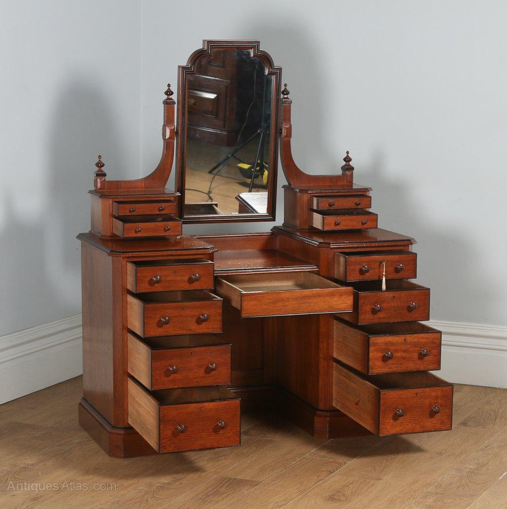 victorian gothic pitch pine ebony dressing table antique dressing tables dressing duchesse table