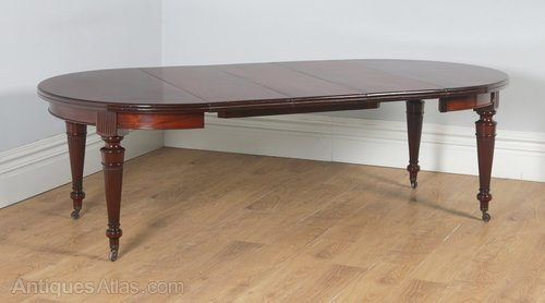 Antiques Able Large Victorian 10 Seater Dining Table. Furniture