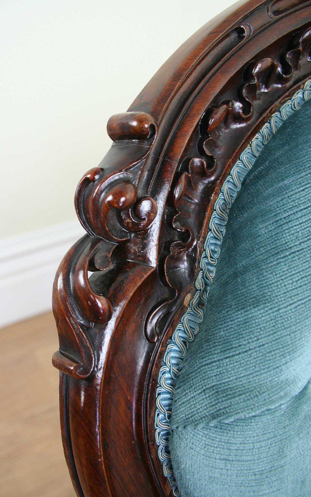 Victorian Mahogany Spoon Back Ladies Chair C 1860