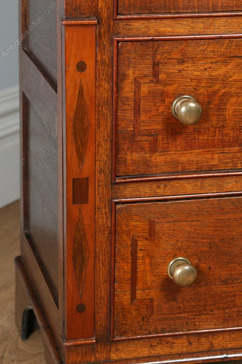 Welsh Georgian Oak Amp Mahogany Cupboard Bookcase