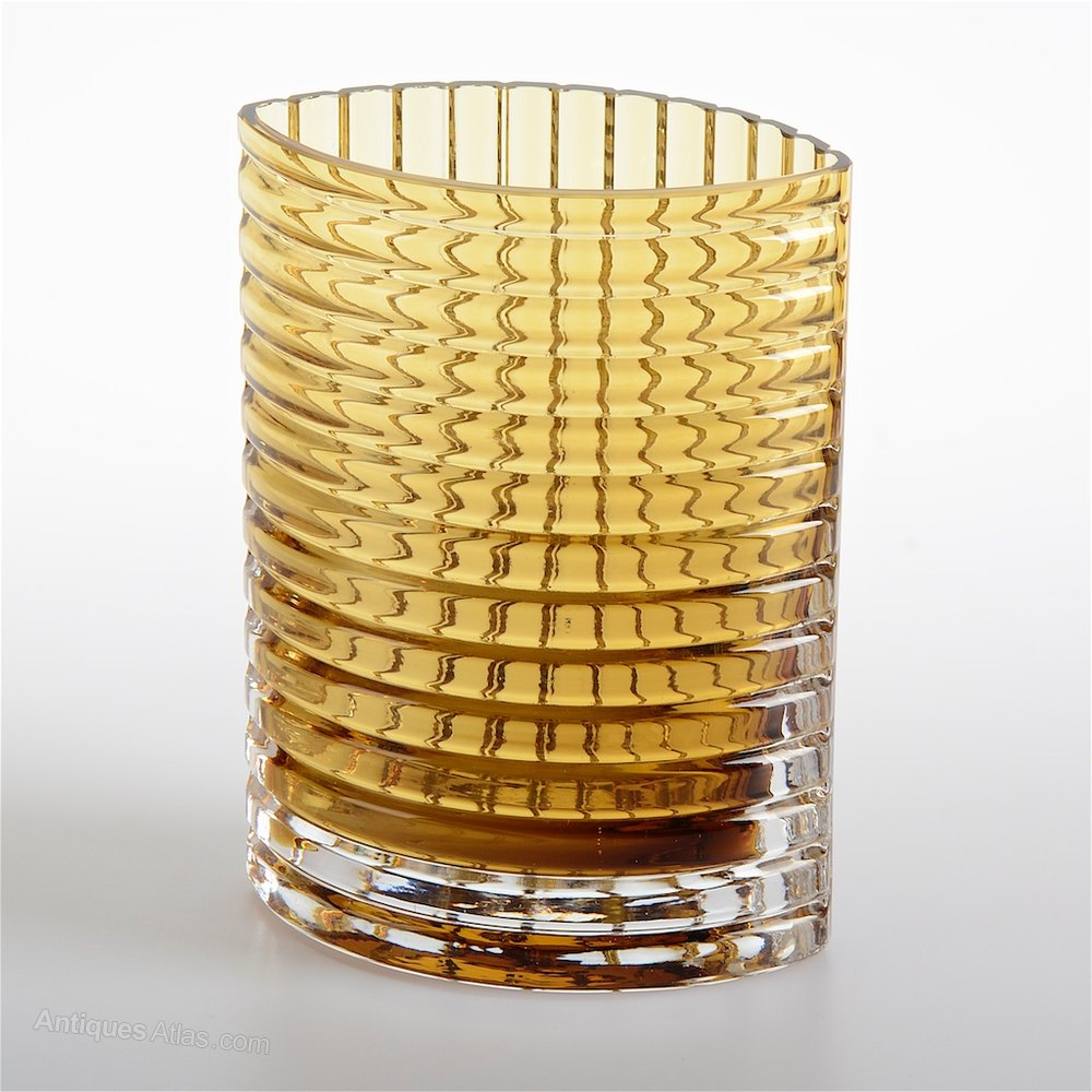 Antiques atlas alsterbro amber glass vase alsterbro amber glass vase floridaeventfo Image collections