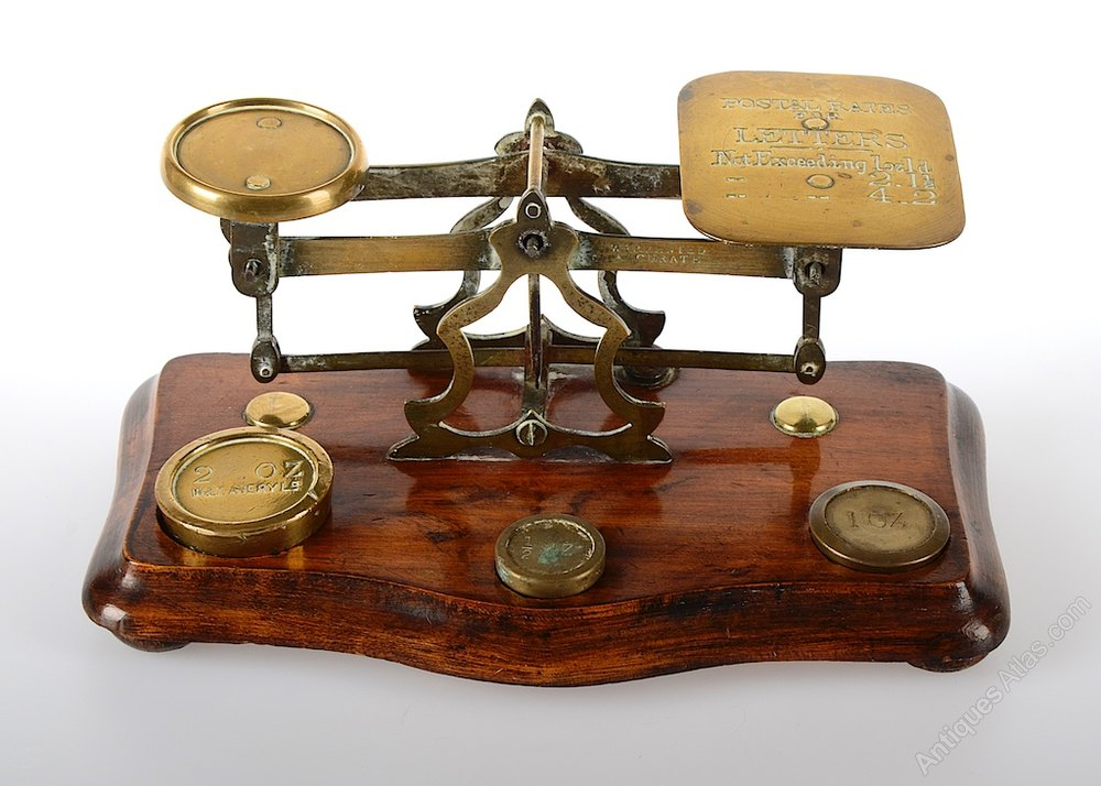 Antique Brass Postal Scales