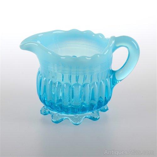 Antique English Vaseline Glass Maker