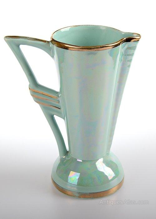 antiques atlas art deco ceramic lustre jug. Black Bedroom Furniture Sets. Home Design Ideas