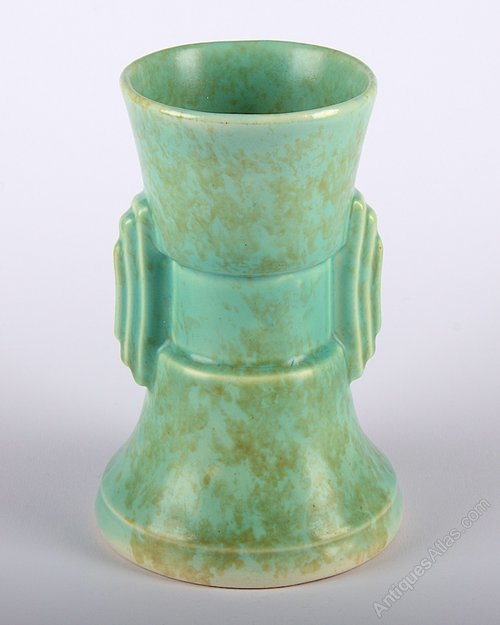 Antiques Atlas Art Deco Green Tiered Ceramic Vase