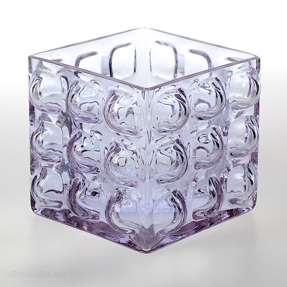 Antiques atlas blenko square glass bubble vase blenko square glass bubble vase art glass reviewsmspy