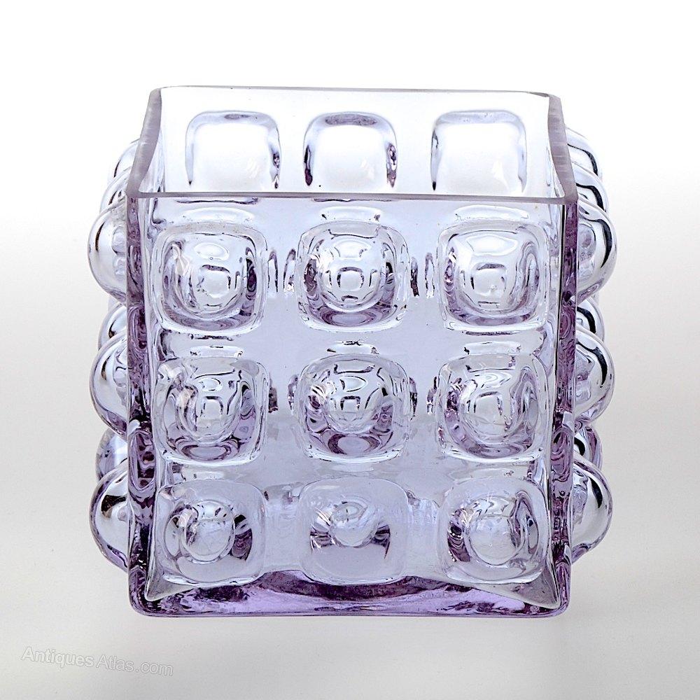 Antiques atlas blenko square glass bubble vase blenko square glass bubble vase reviewsmspy