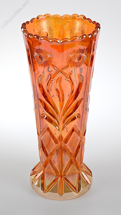 Antiques Atlas Brockwitz Carnival Marigold Glass Vase