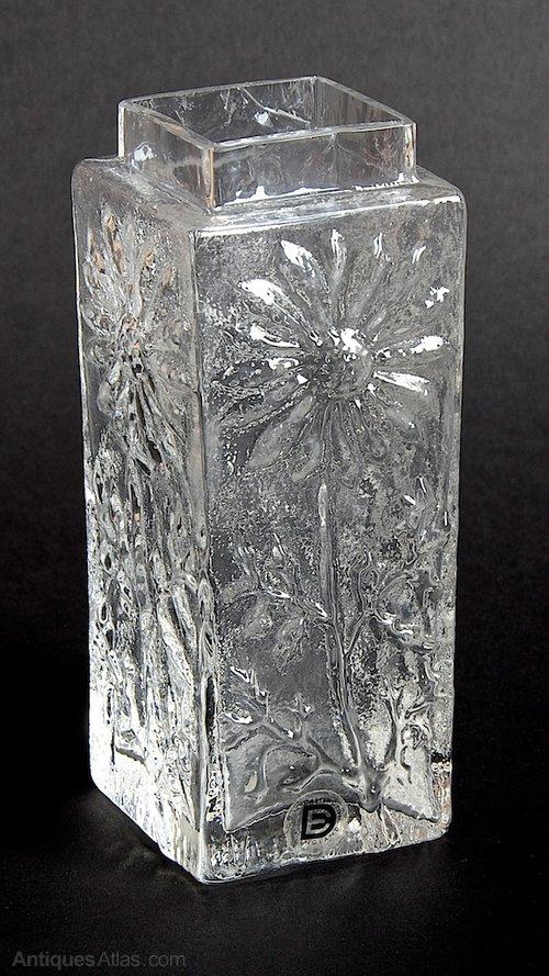 Antiques Atlas Dartington Daisy Clear Glass Vase