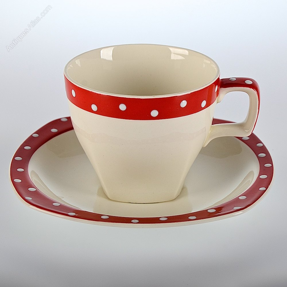 ... Midwinter Pottery ... & Antiques Atlas - Midwinter Domino Stylecraft Pair Of Cups u0026 Saucers