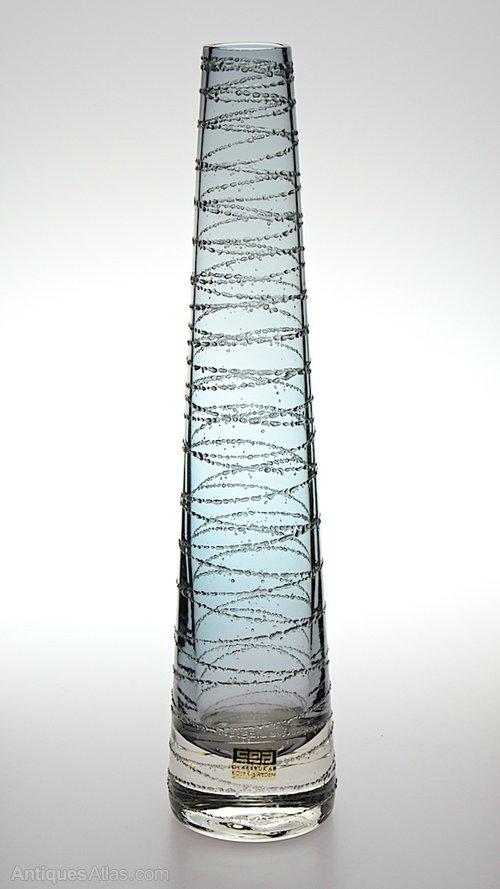 Antiques Atlas Retro Swedish Sea Glasbruk Glass Vase