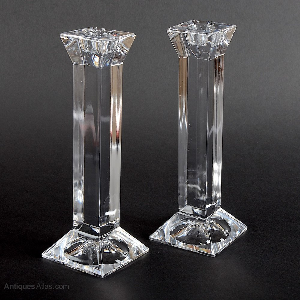 Antiques atlas villeroy and boch pair of crystal for Villeroy boch crystal